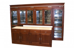Custom made wine cooler cabinet