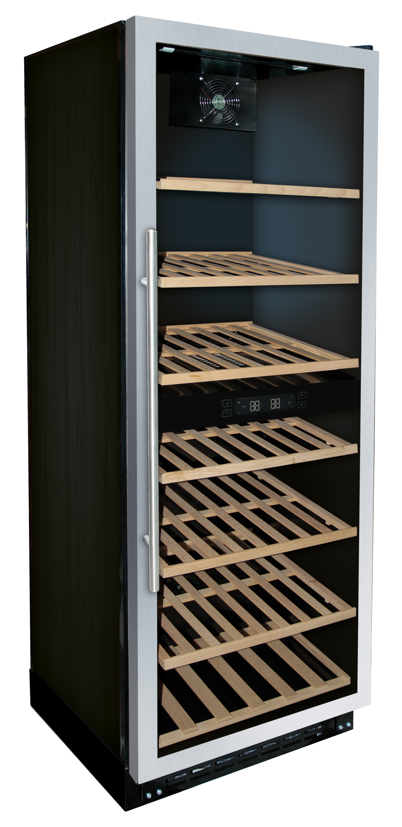 Dual temperature wine cooler