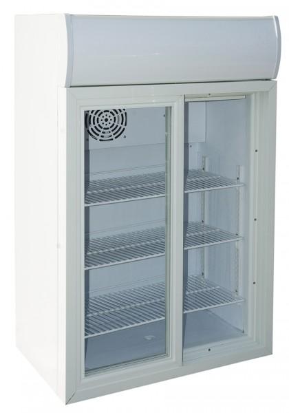 Camfri 105, display fridge with glass door and double sliding door